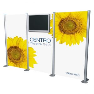 Display LCD LED Exhibition Banner Stand