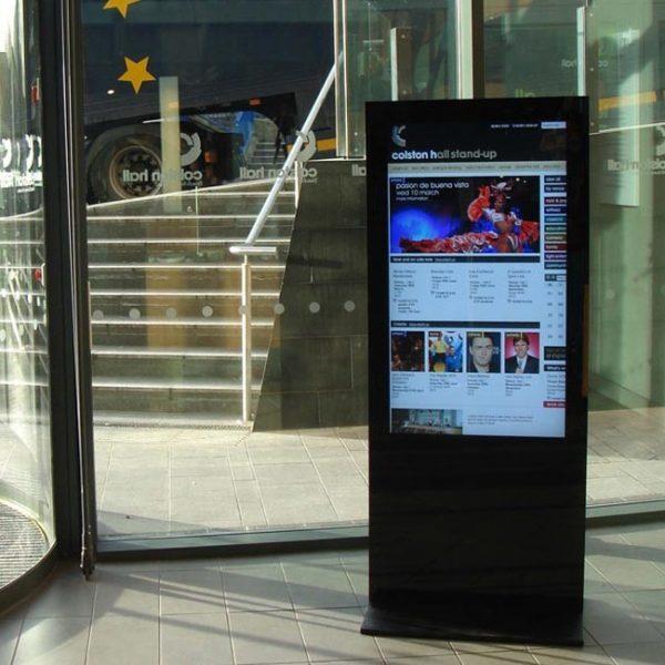 Digital Screen Banner Information Stand