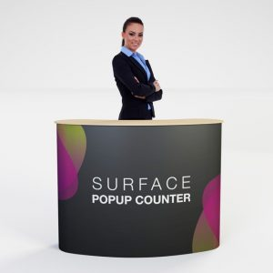 Surface Popup Display Counter Table