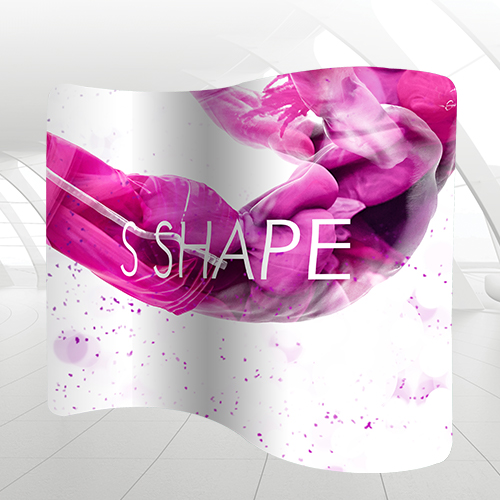 Exhibition S Shape Graphic Banner Stand