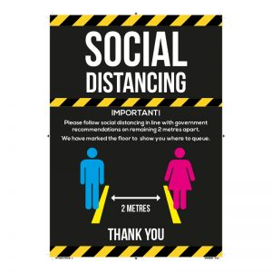 FREE A4 Social Distancing Poster