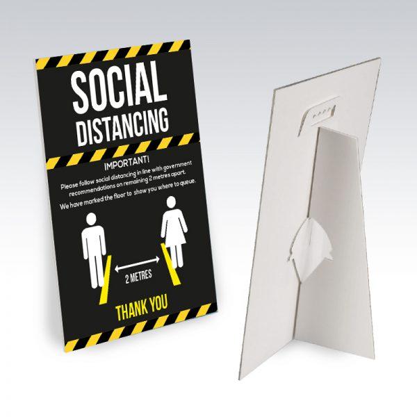 office desk sign social distacing