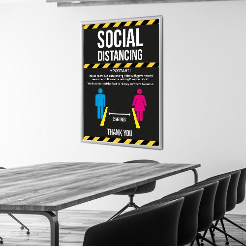 Social Distancing Wall Posters