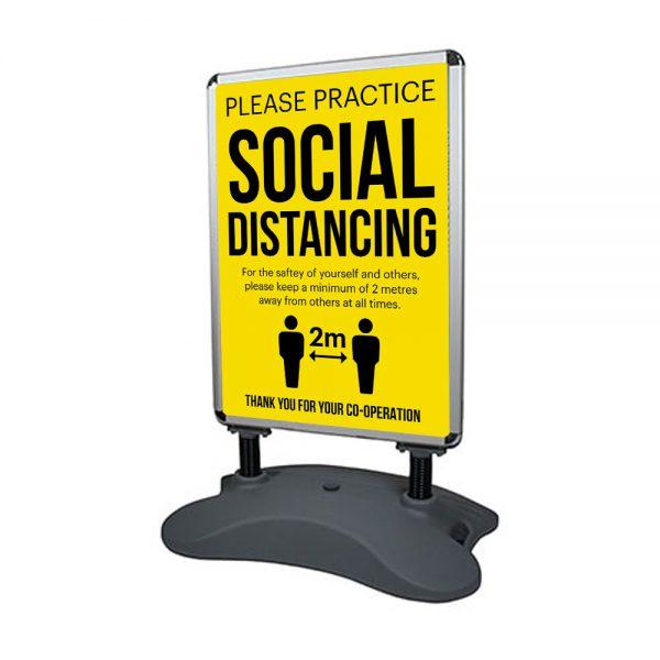 Social Distacing Street Pavement Signs