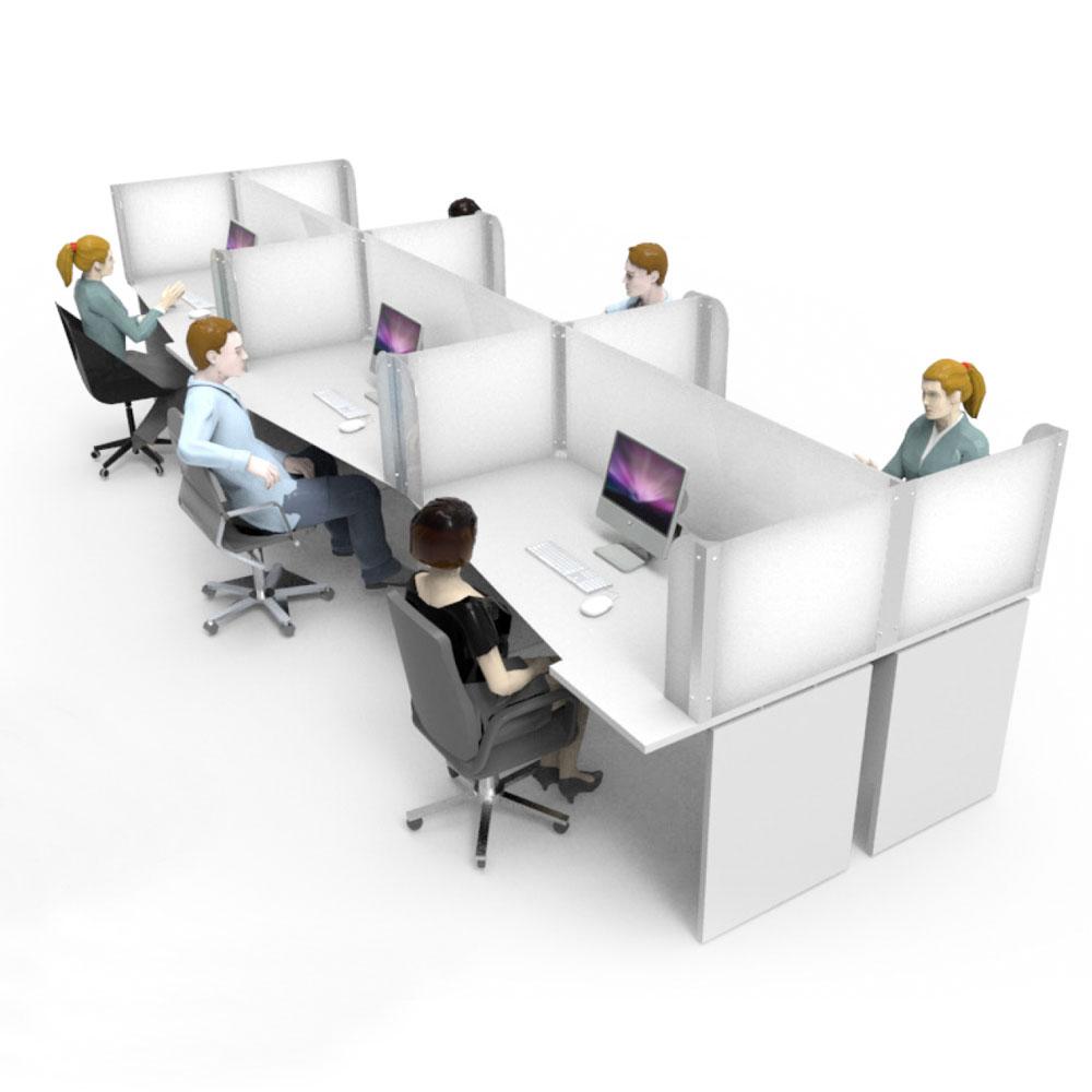 Office Shared Desk Screens