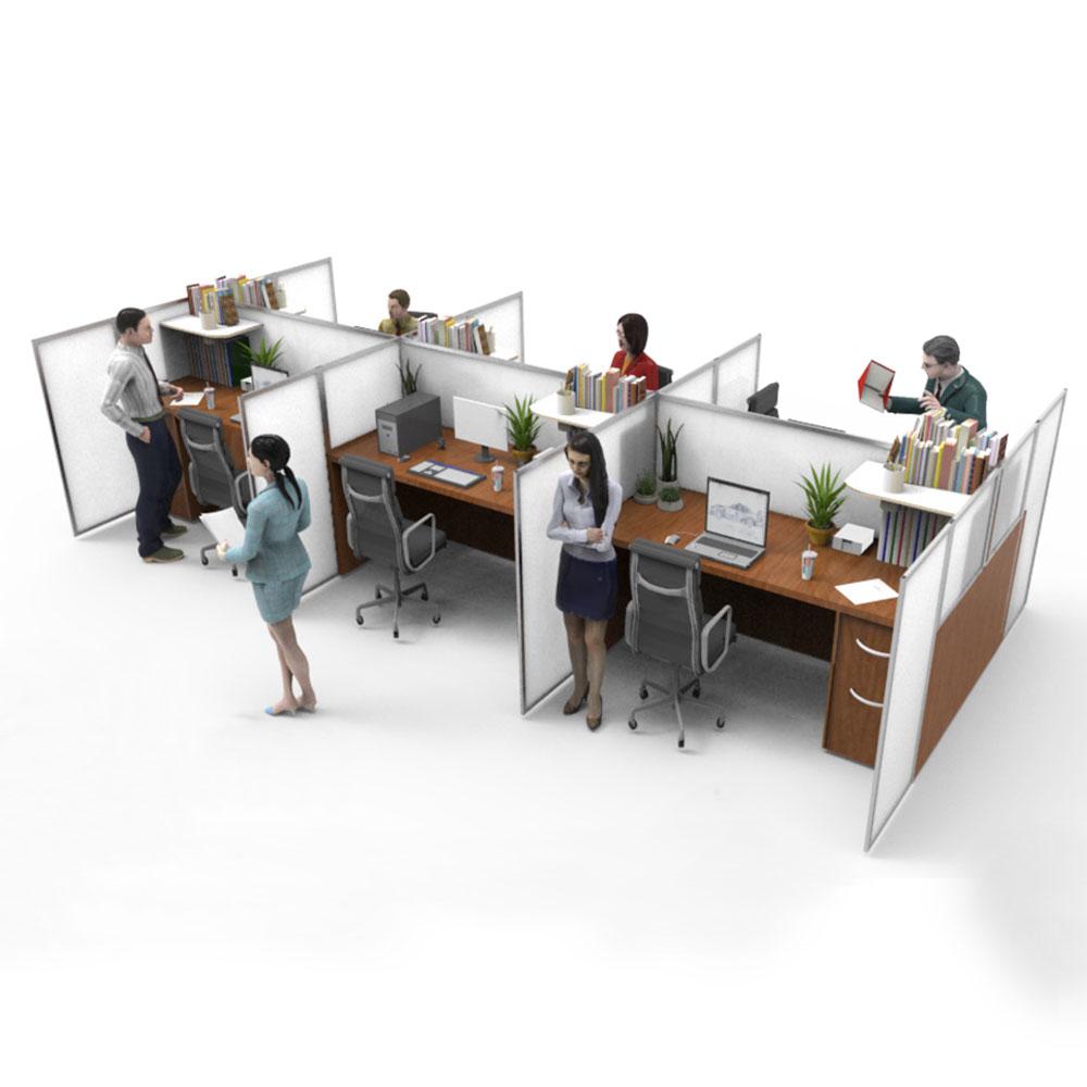 office desk social distancing screens