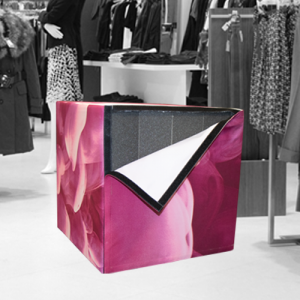 Graphic Fabric Cube
